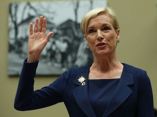 Planned Parenthood leader campaigns for Clinton