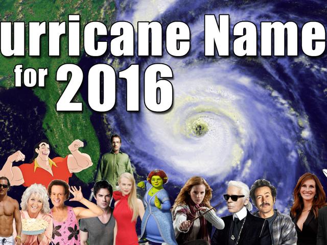 Hurricane Names 2016