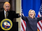 California governor endorses Clinton
