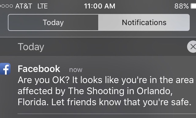 Facebook activates Safety Check in response to Orlando mass shooting