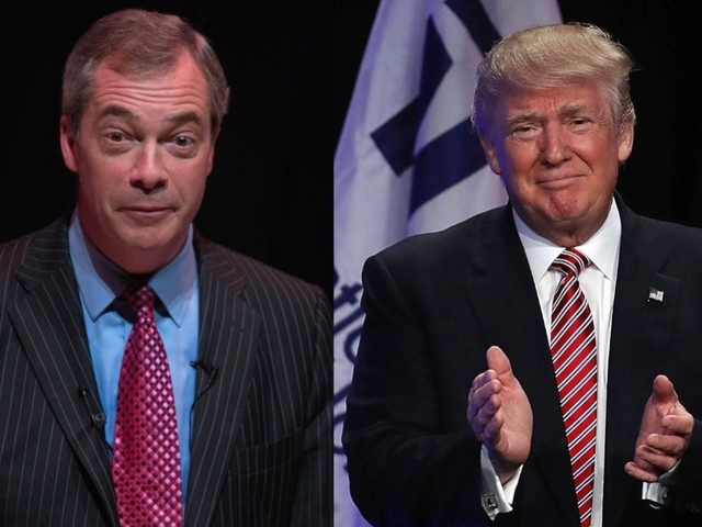 Brexit leader Nigel Farage campaigns for Trump