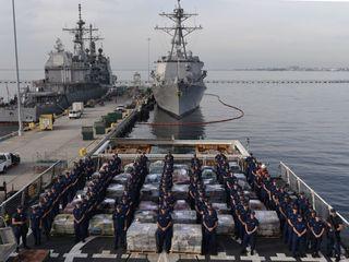 Coast Guard take 18 tons of seized cocaine to SD