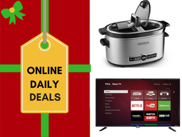 Holiday Deals Of The Day Include 120 Off Tv 50 Off Kitchenaid Las Vegas