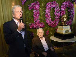 Kirk Douglas celebrates 100th birthday in style