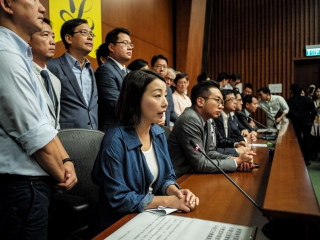 Four opposition lawmakers disqualified from Hong Kong Parliament""
