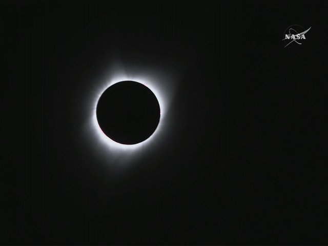 Total solar eclipse passes over United States
