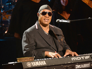 Stevie Wonder 'takes a knee' for America