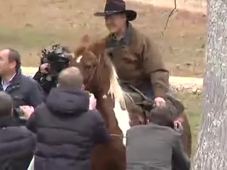 Roy Moore rides a horse to the polls — again