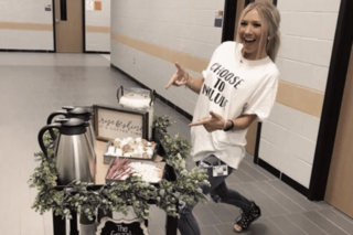 School coffee cart helps kids with disabilities
